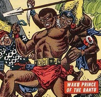 Imagen de Waku, Príncipe de los bantúes. Año 1954.