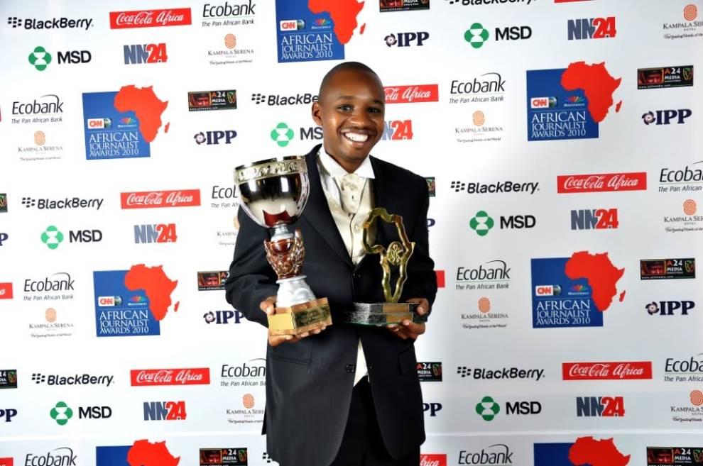 Foto de Boniface en la ceremonia de entrega de los Premios Prince Claus 2012. Fuente: Kevin Oyugi/Niaje.