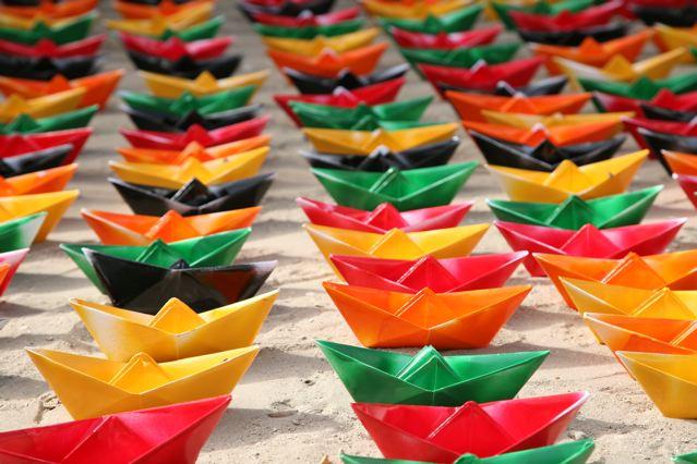 """Trabajo de ElShafei titulado """"Memorias de barcos sin cadenas""""."""