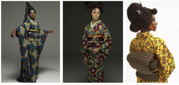 Kimonos de Wafrica, una colaboración entre Serge Mouangue y Kururi.