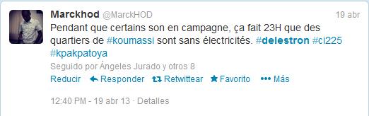 Uno de los tweets dentro del hilo #delestron