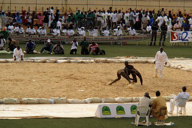 Lucha senegalesa en Dakar. Foto: Vanessa Anaya