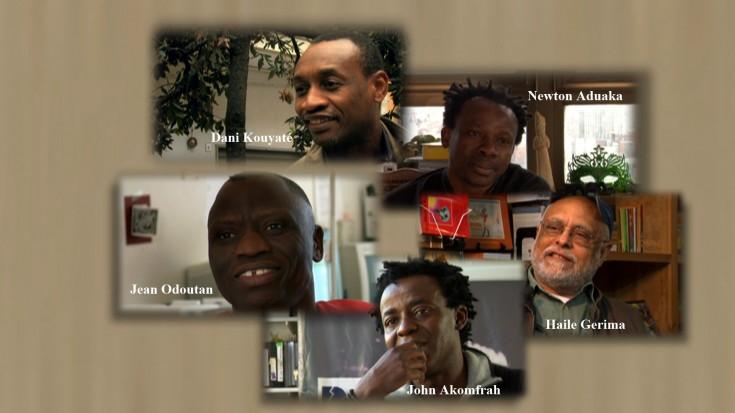 "Cinco fotogramas del documental ""Creation in Exile. Five Filmmakers in Conversation""."