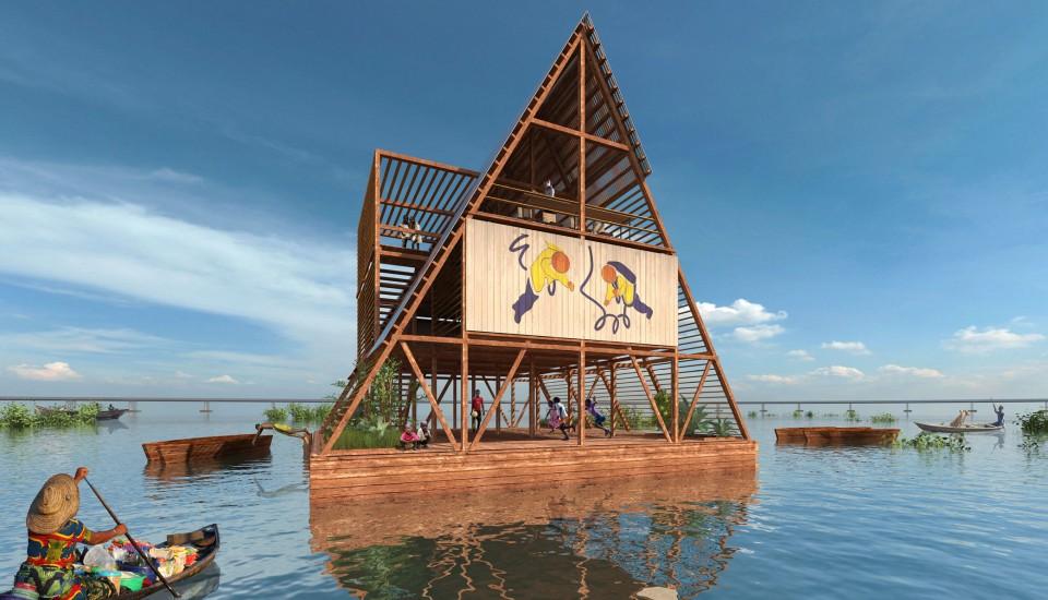 La escuela flotante de Kunlé Adeyemi en Makoko