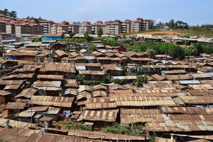 Kibera, uno de los slums más grande de África.