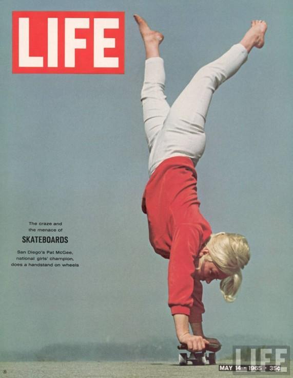 """El 14 de mayo de 1965, la revista 'Life Magazine' lanzaba un reportaje llamado """"Skateboard Mania"""" en el que se observa el boom del patín en aquellos tiempos."""