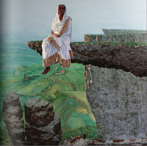 Obra de Mezgebu Teseba (Enewary, Etiopía 1960). Fuente: http://www.artofethiopia.com/
