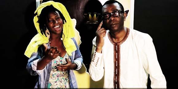 Idylle Mamba junto a Toussou N'Dour. Fuente: Página oficial de Idylle Mamba