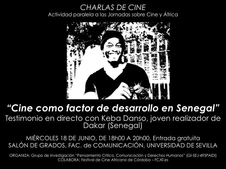 Cartel charla de cine_Keba Danso_US