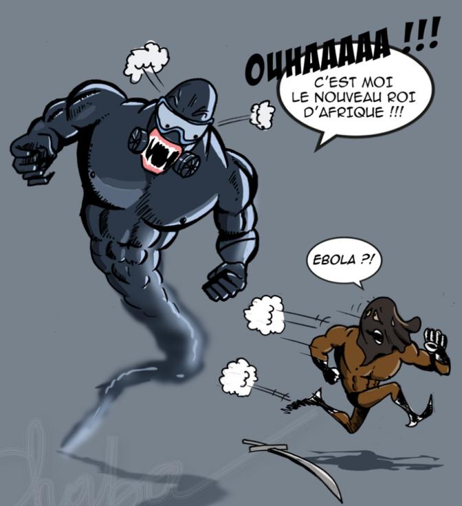 Primera viñeta de la serie de Délestron en su lucha contra el Ébola