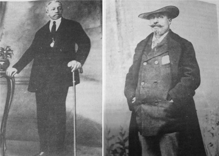 Retratos del compositor Zenón Rolón, a la derecha, y de Gabino Ezeiza, a la izquierda. Extraídos del libro Los afroargentinos de Buenos Aires de George Reid Andrews