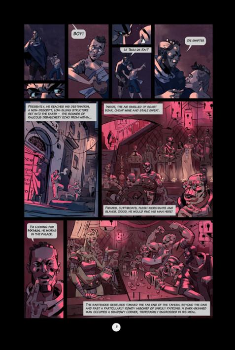 Una de las páginas de la primera entrega del cómic. Fuente: web del proyecto