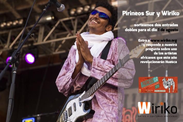 Imagen de Bombino, uno de los artistas africanos que este año estarán presentes en el Festival Pirineos Sur.