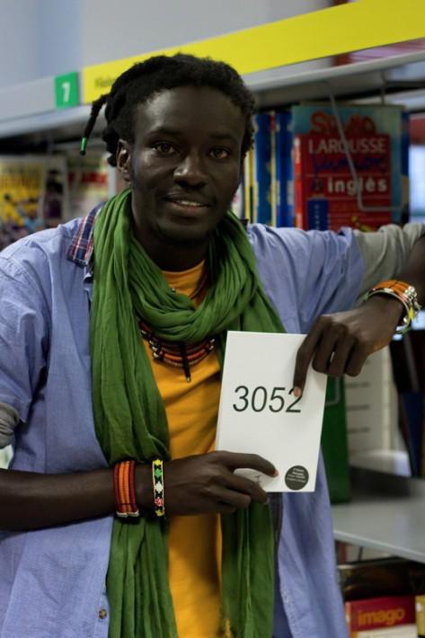 El autor Mamadou Dia. Fuente; Facebook de la organización del autor