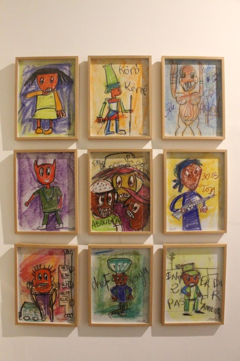 Aboudia en Galerie Cécile Fakhoury