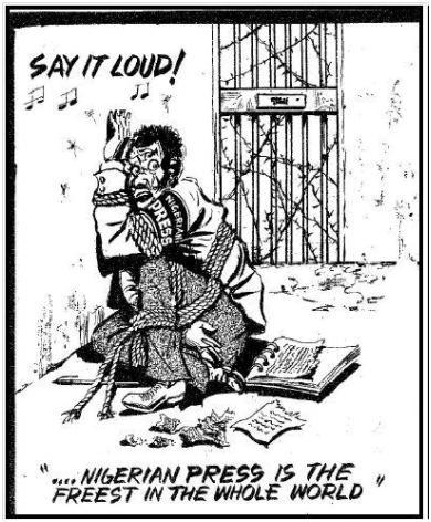 Fig. 1 Nigerian Press, Publicado en Sunday Times, 16 Febrero 1992.