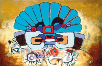 Aubrey-Williams-Quetzalcoatl-III-Olmec-Maya-and-Now-series-1984-oil-on-canvas