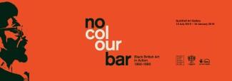 No Colour Bar, póster de la exposición en la Guildhall Art Gallery en Londres.