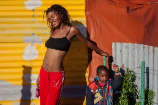 Mother and son, Sipho Mpongo