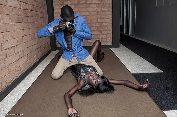 """Blow Up"", Dakar, 2013. Models: Viktor and Aminata. From the series ONOMOllywood by Antoine Tempé & Omar Victor Diop."