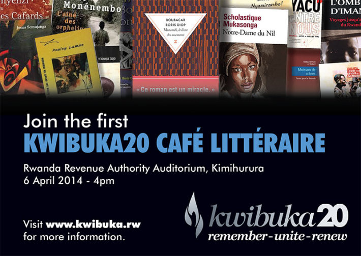 "Cartel de una de las actividades del programa ""Rwanda: Écrire par devoir de mémoire"""