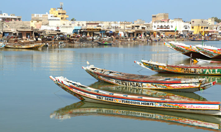 Saint Louis, antigua capital de Senegal.