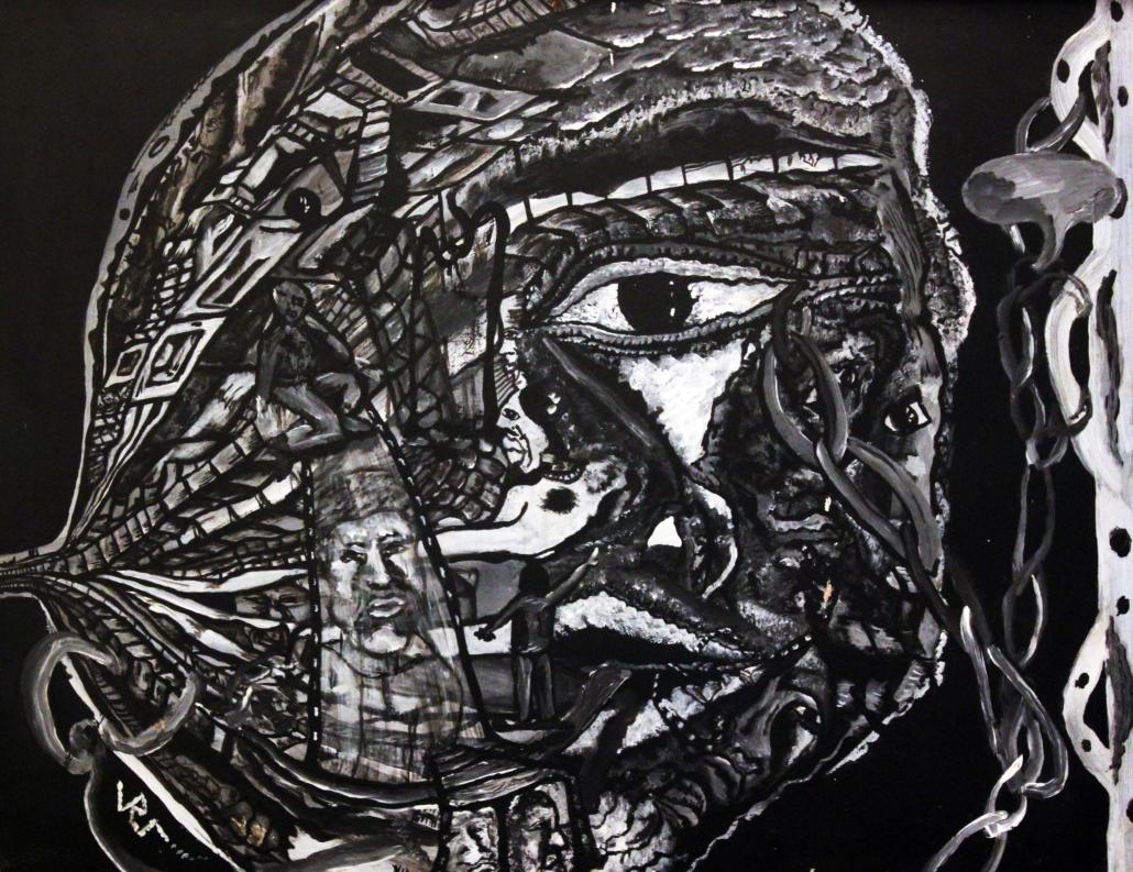 """Autorretrato"", de Justo Alioundine Nguema Pouye."